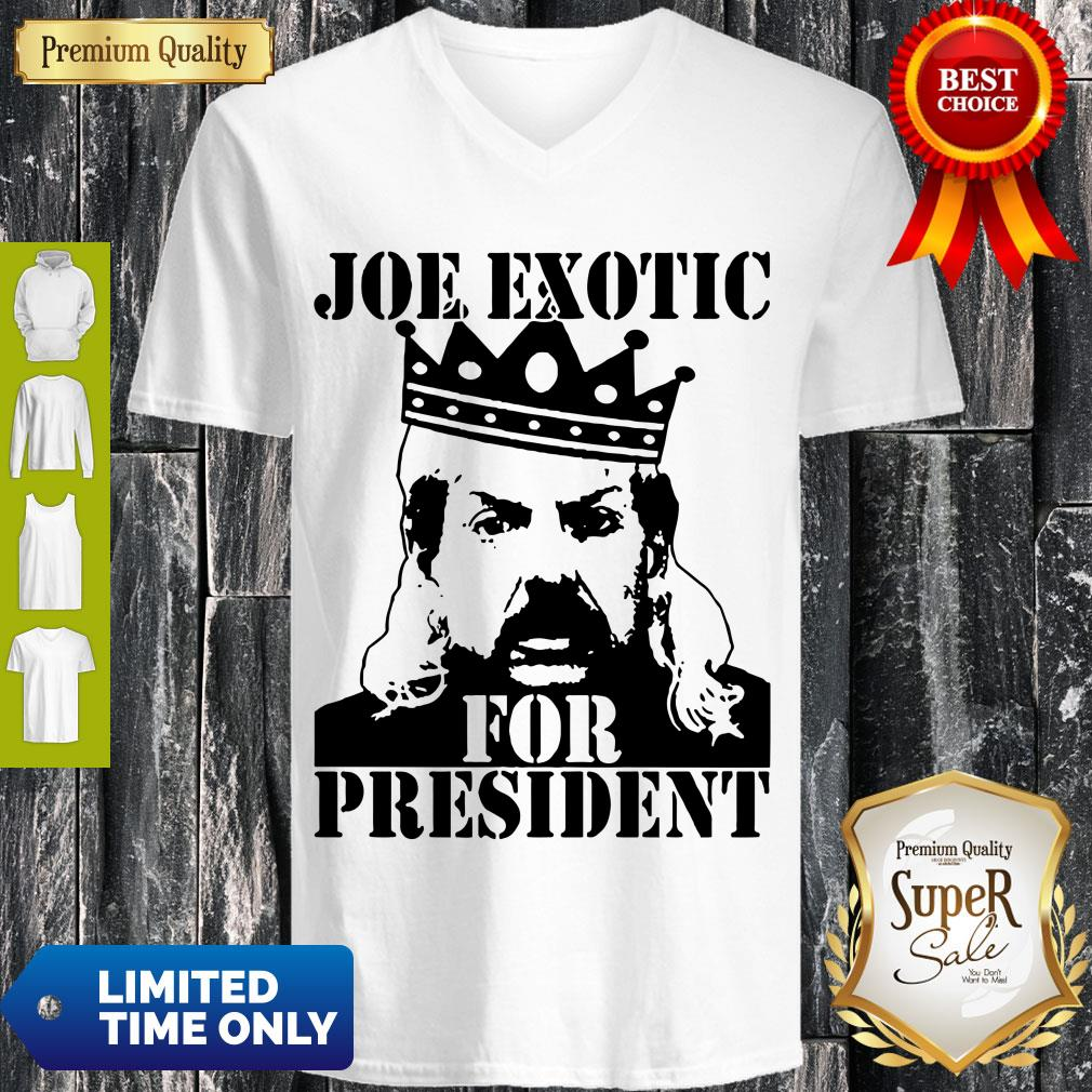 Pro The Tiger King Joe Exotic For President Tee Shirt Big Cat 90s V-neck