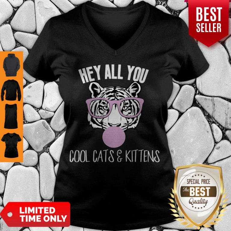 Official Hey All You Cool Cats And Kittens Tee V-neck