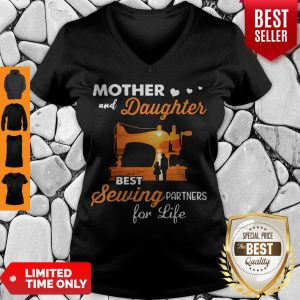 Pretty Mom And Daughter Best Sewing Partners For Life V-neck