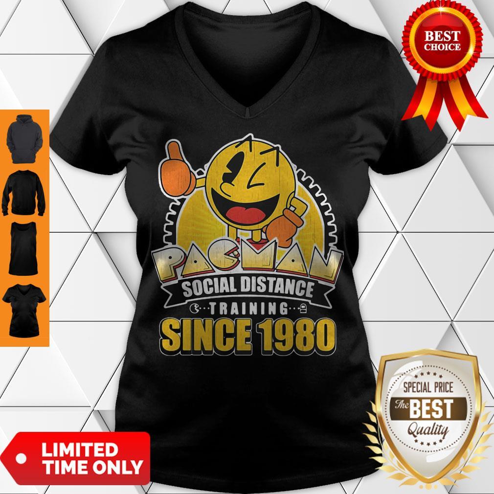 Cute Pacman Social Distance Training Since 1980 Classic V-neck