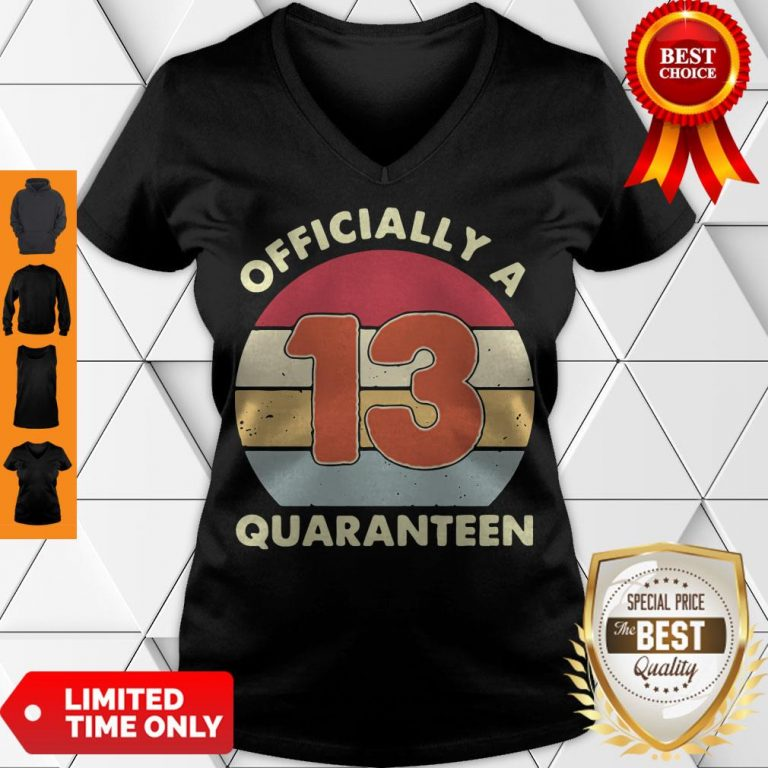 Official A 13th Thirteen Quaranteen Birthday Quarantined 2020 V-neck