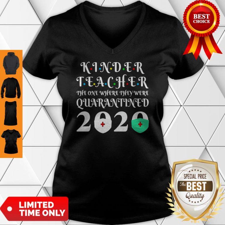 Nice Seniors 2020 Kinder Teacher The One Where They Were Quarantine 2020 Graduation Tote V-neck