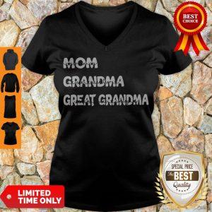 Top Personalized Family Mom Grandma Great Grandma With Grandkid V-neck