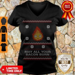 Premium May All Your Bacon Burn V-neck