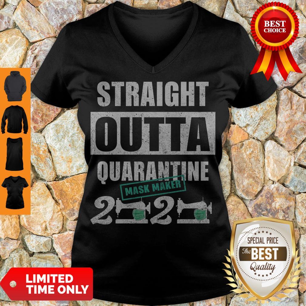 Hot Straight Outta Quarantine Mask Maker 2020 V-neck