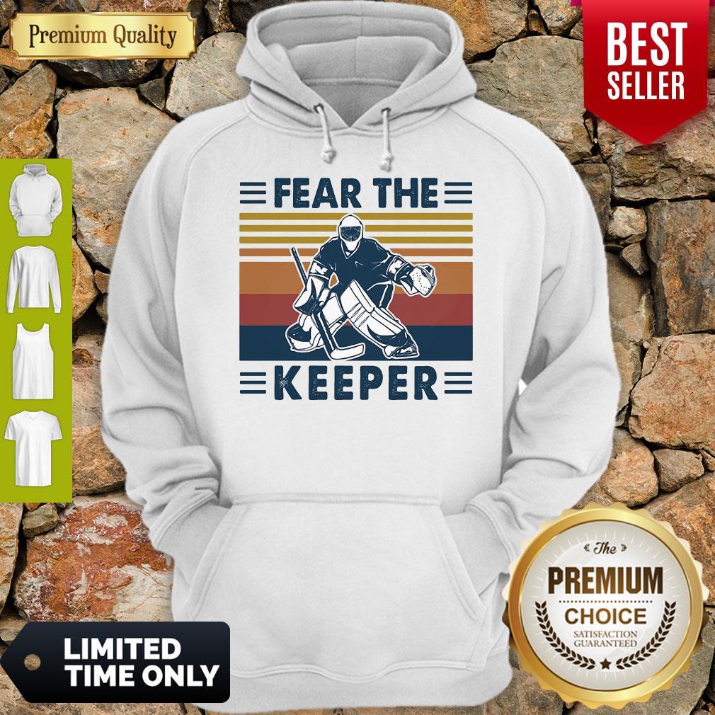 Hockey Fear The Keeper Vintage Hoodie
