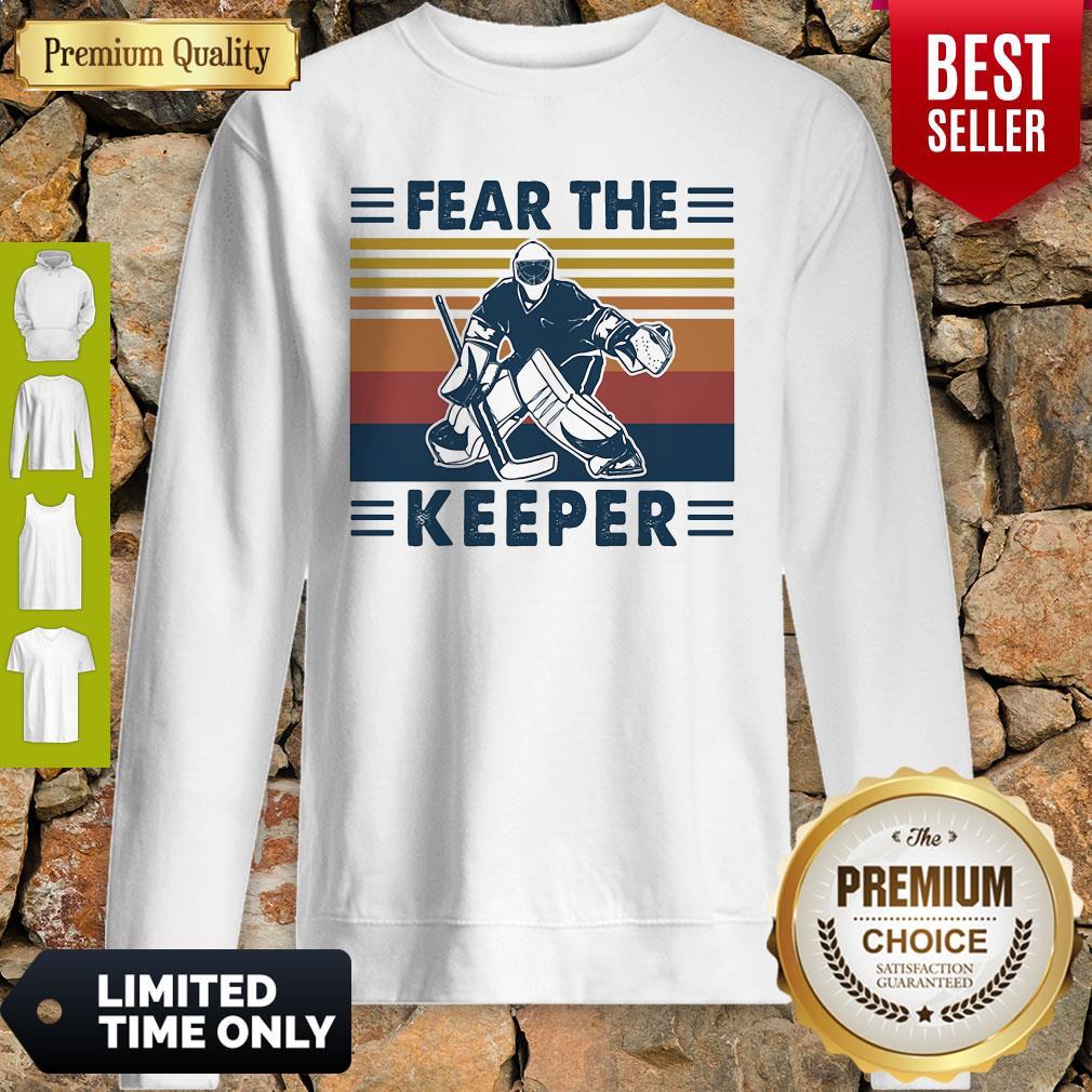 Hockey Fear The Keeper Vintage Sweatshirt