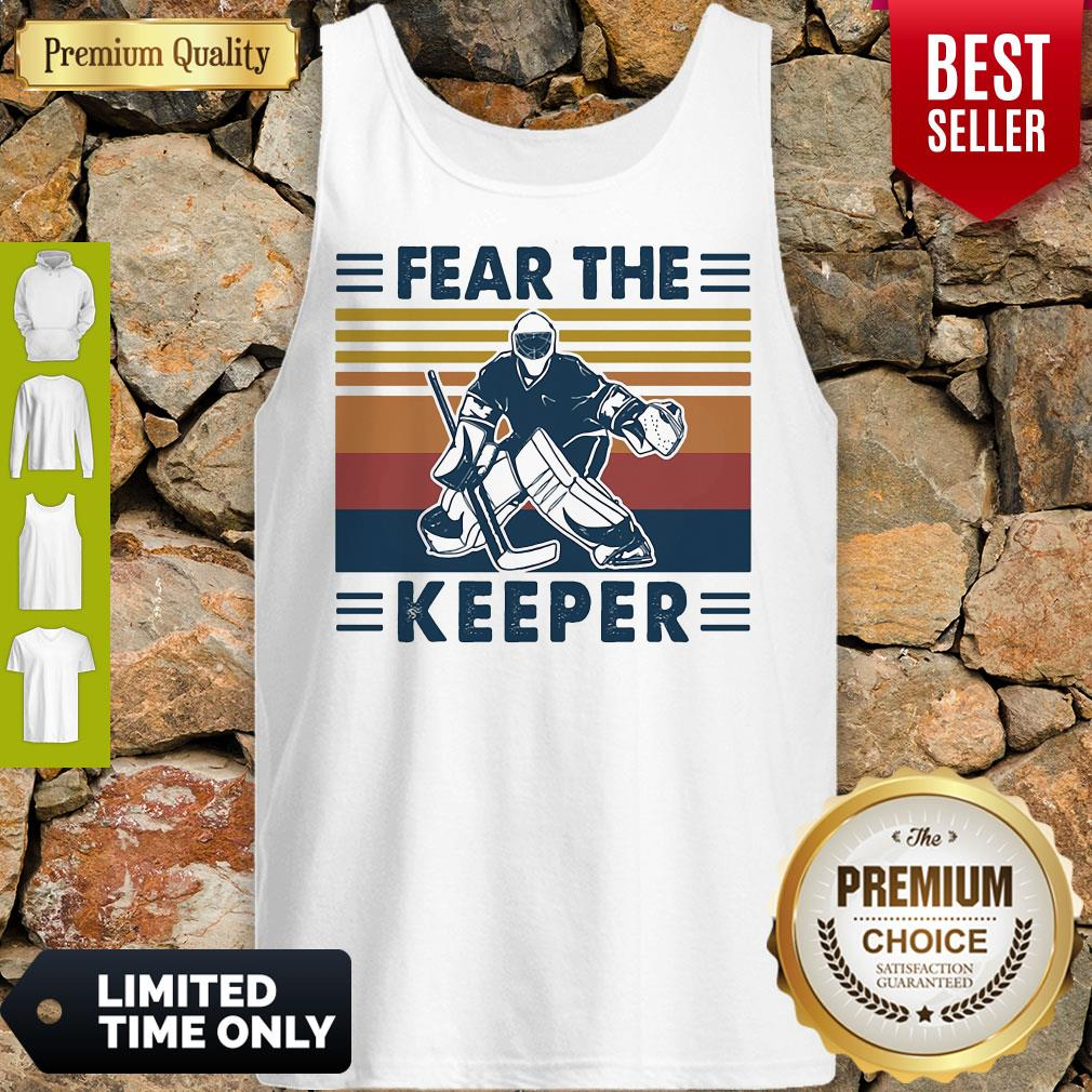 Hockey Fear The Keeper Vintage Tank Top