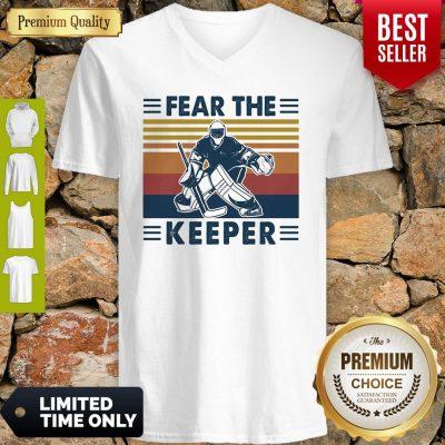 Hockey Fear The Keeper Vintage V-neck