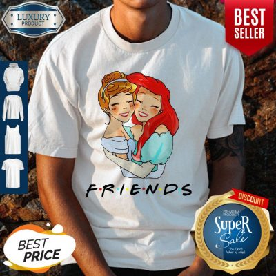 Awesome Cinderella And Ariel Friends Shirt