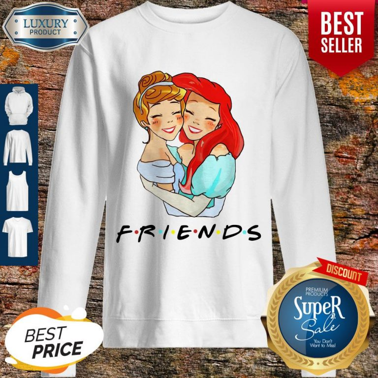 Awesome Cinderella And Ariel Friends Sweatshirt