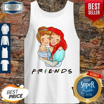 Awesome Cinderella And Ariel Friends Tank Top