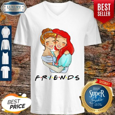 Awesome Cinderella And Ariel Friends V-neck