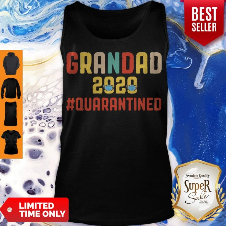 Awesome Grandad 2020 Quarantined Father's Day Tank Top