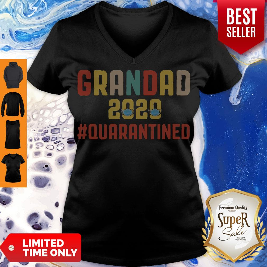 Awesome Grandad 2020 Quarantined Father's Day V-neck