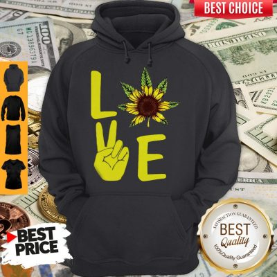 Awesome Love Hands Sunflower Weed Hoodie