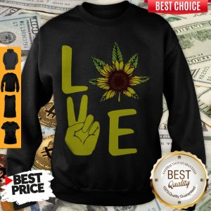 Awesome Love Hands Sunflower Weed Sweatshirt