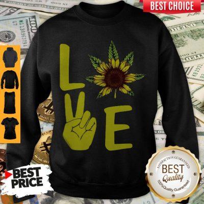 Awesome Love Hands Sunflower Weed Sweatshirt