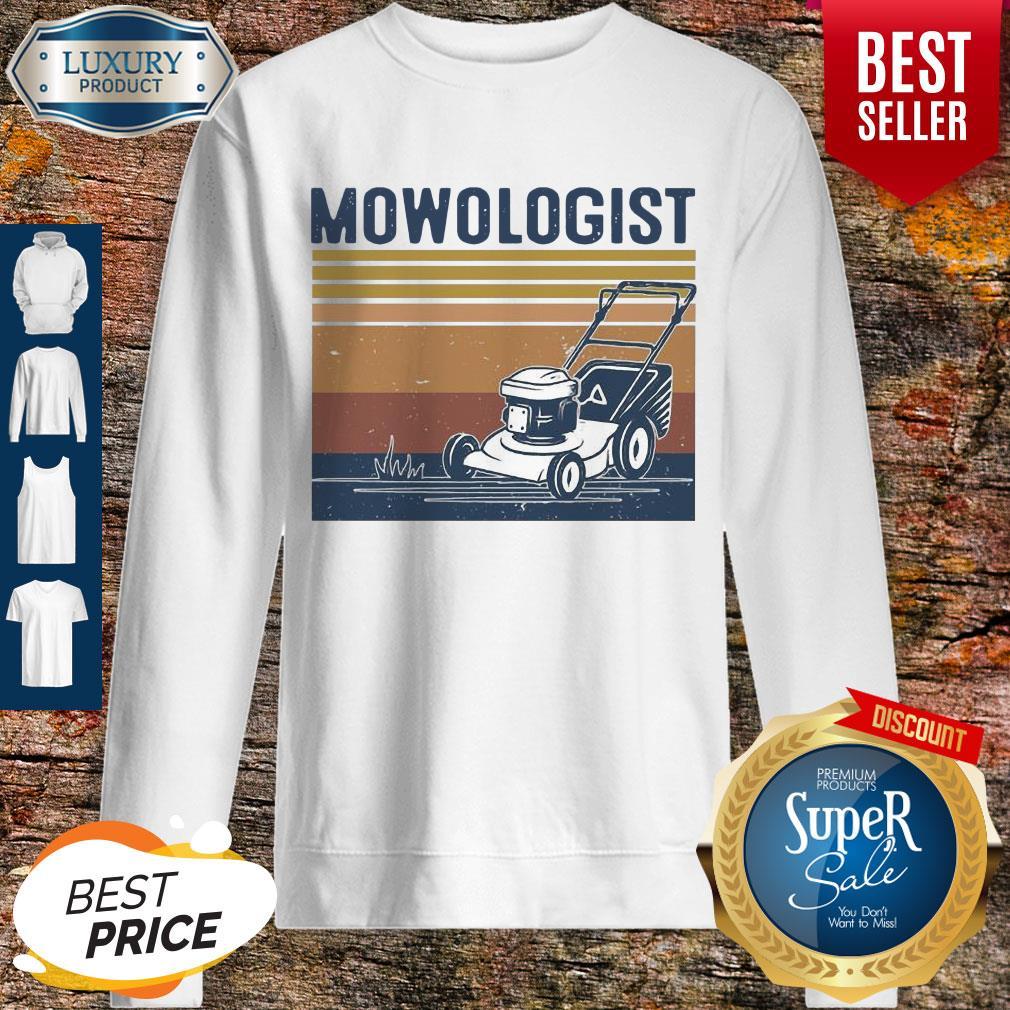 Awesome Mowologist Vintage Sweatshirt