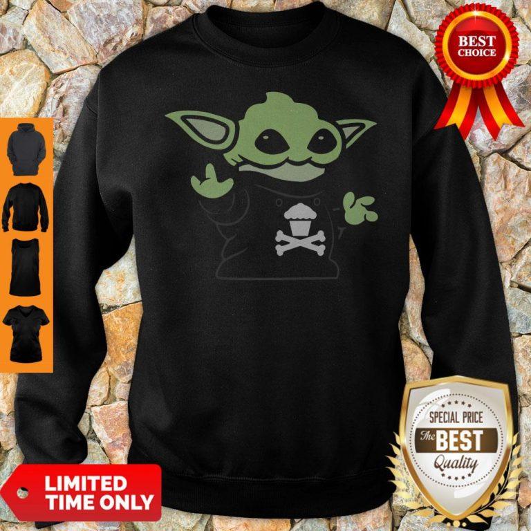 Baby Yoda Yodel Johnny Cupcakes T-Sweatshirt