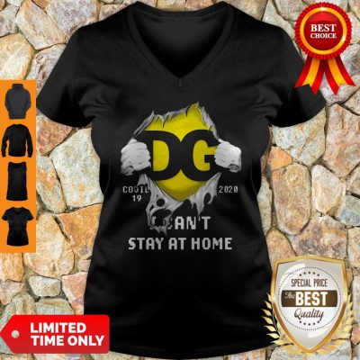 DG Logo Covid 19 2020 I Can'T Stay At Home T-V-neck