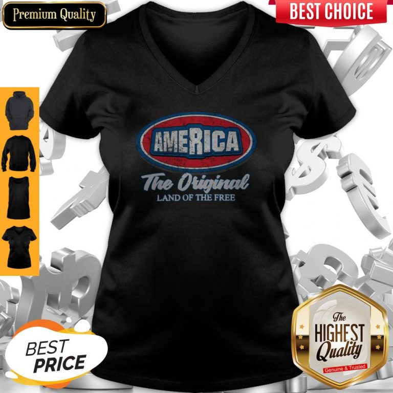 Funny AmericaThe Original Land Of The Free V-neck
