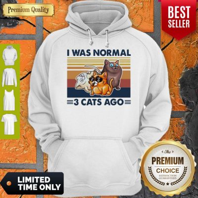 Funny I Was Normal 3 Cats Ago Black Version Hoodie