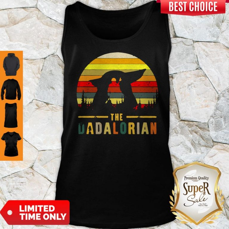 Funny The Dadalorian Definition Father's Day Tank Top