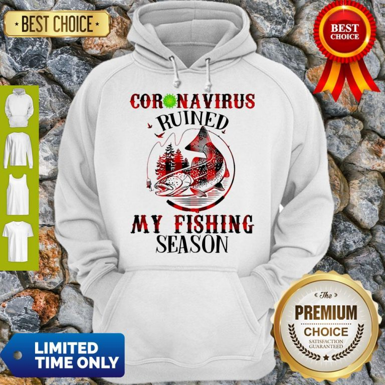 Official Coronavirus Ruined My Fishing Season Covid-19 Hoodie