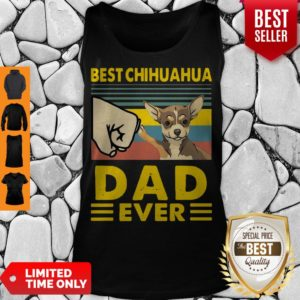 Nice Best Chihuahua Dad Ever Vintage Tank Top