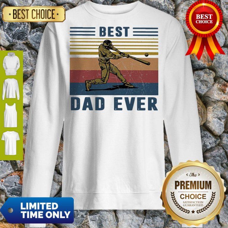 Official Baseball Best Dad Ever Vintage Sweatshirt