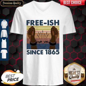 Official Free Ish Since 1865 Vintage V-neck