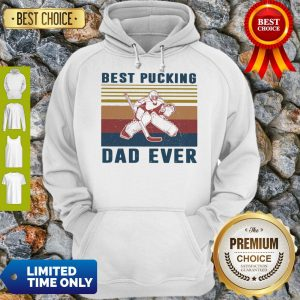 Official Hockey Best Bucking Dad Ever Vintage Hoodie