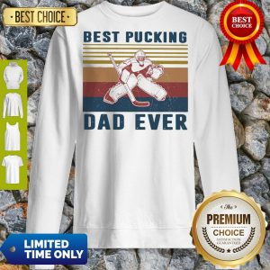 Official Hockey Best Bucking Dad Ever Vintage Sweatshirt