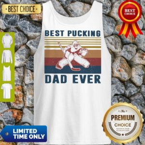 Official Hockey Best Bucking Dad Ever Vintage Tanktop