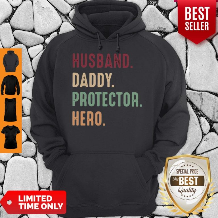 Official Husband Daddy Protector Hero Vintage Hoodie