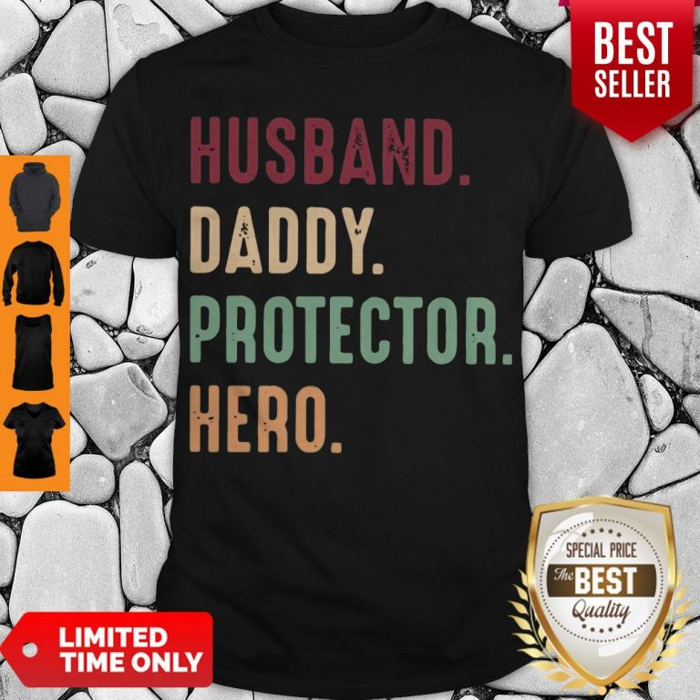 Official Husband Daddy Protector Hero Vintage Shirt