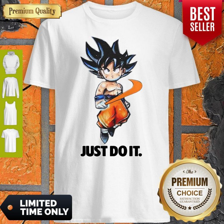 Official Nike Songoku Just Do It Dragon Ball Shirt