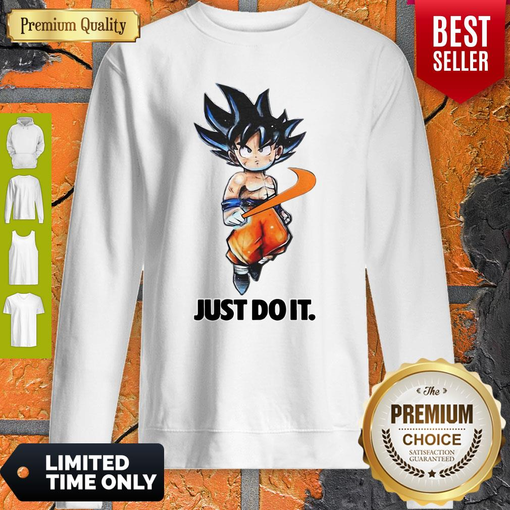 Official Nike Songoku Just Do It Dragon Ball Sweatshirt