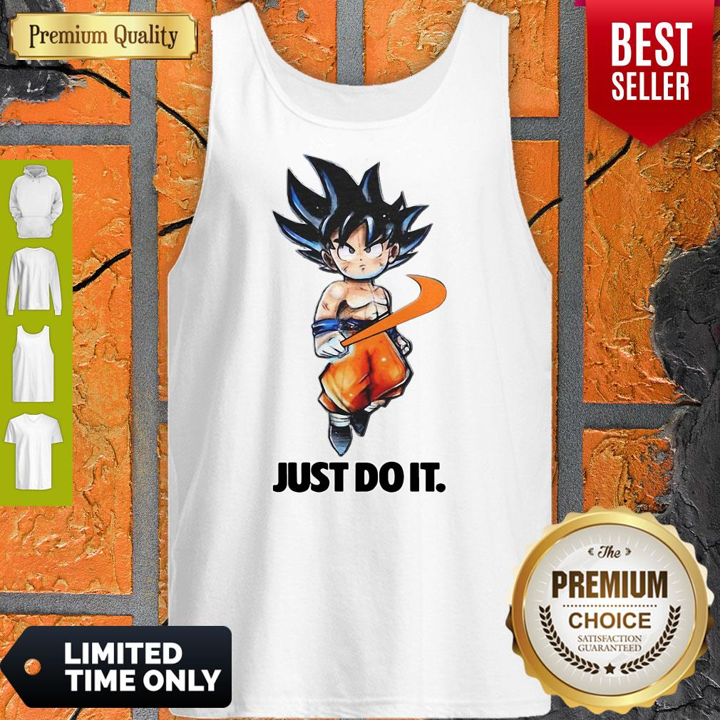Official Nike Songoku Just Do It Dragon Ball Tank Top