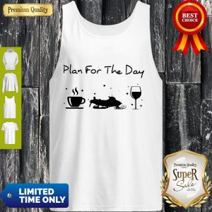 Official Plan For The Day Coffee Snowboards And Wine Tank Top