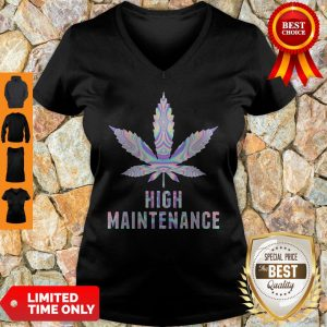 Official Weed High Maintenance V-neck