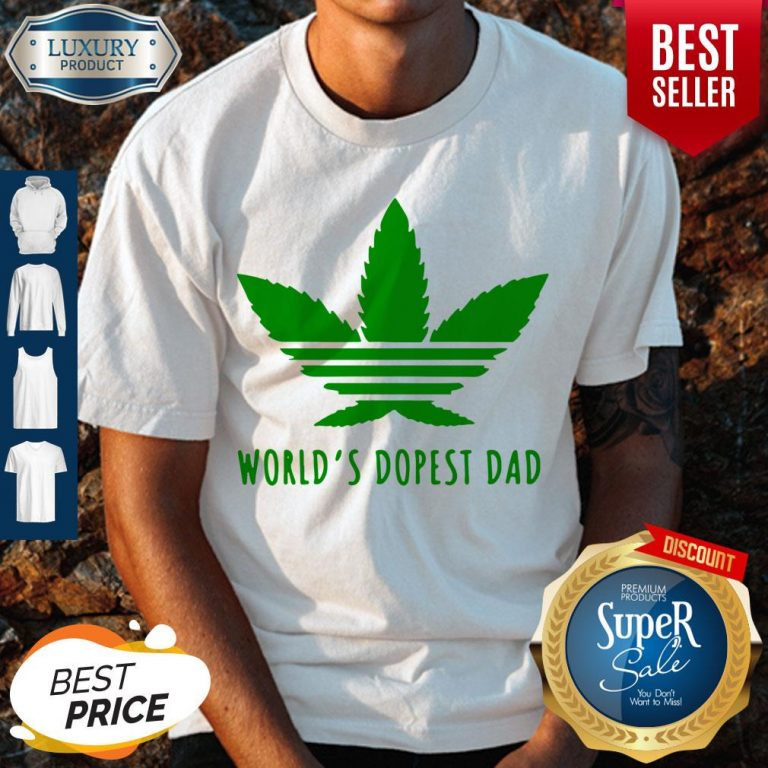 Official Weed Worlds Dopest Dad Shirt