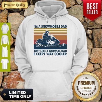 Premium Im A Snowmobile Dad Just Like A Normal Dad Except Way Cooler Vintage Hoodie