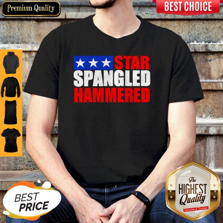 Premium Star Spangled Hammered 4th Of July Shirt