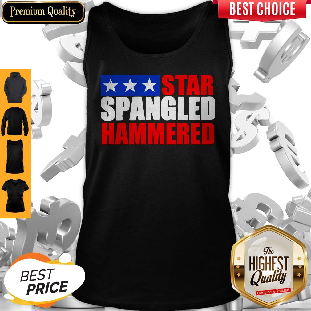 Premium Star Spangled Hammered 4th Of July Tank Top