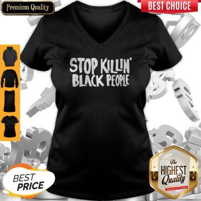 Premium Stop Killing Black People V-neck
