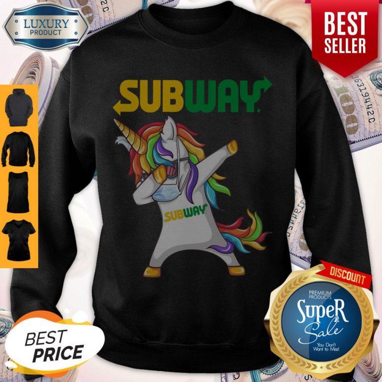 Premium Unicorn Face Mask Dabbing Subway Sweatshirt