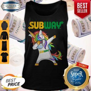 Premium Unicorn Face Mask Dabbing Subway Tank Top