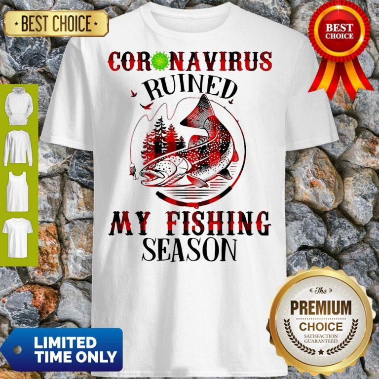 Official Coronavirus Ruined My Fishing Season Covid-19 Shirt